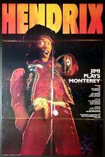 JIMI PLAYS MONTEREY RARE HENDRIX CONCERT FILM PENNEBAKER 1987 1-SHEET