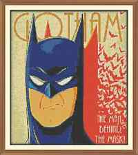 Gotham Batman CROSS STITCH CHART ONLY 10.5 x 12.0Inches