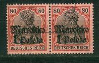 Deutsche Auslandspostämter Marokko 54 im waagerechtem Paar , o ,