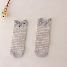Fashion Lovely 3d Cartoon Animal Zoo Women Socks Girls Cotton Warm Soft Socks Gray Fox