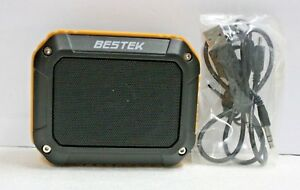 New BESTEK Multimedia Wireless Portable Bluetooth Speaker (Orange)