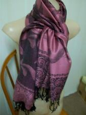 New in bag stunning pashmina floral & roses scarf,  pink and black