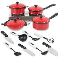 Kitchen Play Kids Set Toy Pretend Cooking Food Role Playset Cookware Toys Gift