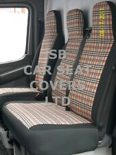 TO FIT MERCEDES VITO VAN SEAT COVERS DIESEL BURBERRY 1S +1D