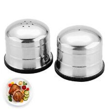 Salt &Pepper Shaker Set Cellar Pot Condiment Restaurant Stainless Steel #HD3
