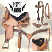 13 Inch Western Saddle Package - Pistol Annie - Headstall, Reins & Breastcollar
