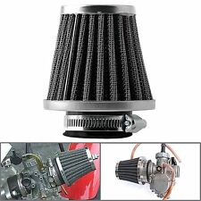 2 Pcs 54mm Universal Tapered Chrome Air Filters Clean For Motorcycle Cafe Racer