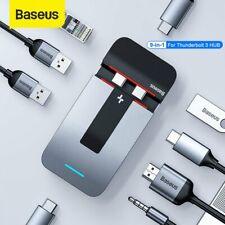 Baseus Type C HUB to USB 3.0 HDMI RJ45 Adapter Thunderbolt 3 Dock for MacBook