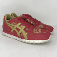 Asics Mens Onitsuka Tiger D6C2N Red Gold Running Shoes Lace Up Low Top Size 7