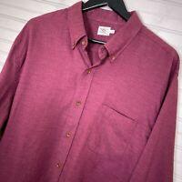 Faherty L/S Tencel Cotton Blend Button Shirt Red Men's Size XXL