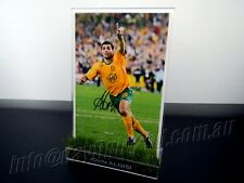 ✺Signed✺ JOHN ALOISI Photo & Frame PROOF Socceroos World Cup 2018 Jersey