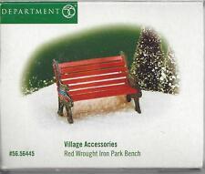 Department 56 Original Snow Village-Red Wrought Park Bench-Nib
