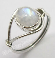 925 Sterling Silver OVAL RAINBOW MOONSTONE BESTSELLER Ring Any Size 4 1/2 to 12