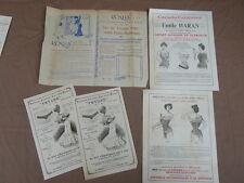 5 prospectus PUBLICITAIRES DE 1906 Emile Haran corsets LA XILA sac voyage TRUYNE