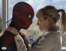 Andrew Garfield and Emma Stone SIGNED 11x14 Photo The Amazing Spider Man PSA/DNA