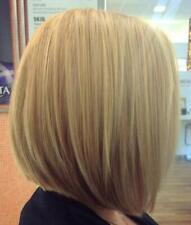 Short Lace Front Bob Wig 130% Density Real Human Hair Dark Ash Highlights Blonde
