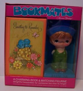 Bookmates I Love You Book Figurine Vintage American Greeting Hello Dollys