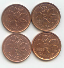 Canada 2000 2001 2002 2003 Pennies Canadian 1 Cent 1c EXACT SET SHOWN