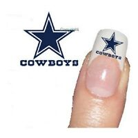 NFL Dallas Cowboys Temporary Fingernail Tattoos 02 SETS of 10 tattoos each one