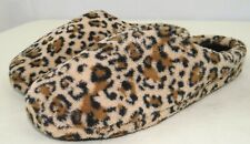 Dearfoams Memory Foam Cheetah Print Women's Slippers Large Size 9-10 US