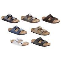 Birkenstock Arizona Sandals - Leather - black white brown - normal or regular