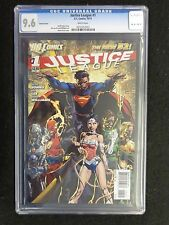 Cgc 9.6 Justice League #1 Finch Variant N52 New 52 1st First Print Free Ship