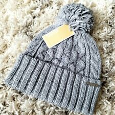 NWT Michael Kors Cable Knit Grey Winter Beanie Hat One Size 537825CY MSRP $42