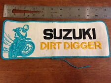 Vintage Suzuki Dirt Digger Motorcycle Bike Racing Collectors Embroidered Patch