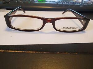 NEW DOLCE & GABBANA DD 1128-B 568 Clear Brown 51-16-135 Eyeglasses PERFECT