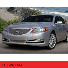 2 Pc Heavy Mesh Chrome Grille Fits 2014-2016 Acura RLX