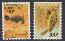 BIRDS :DJIBOUTI 1977 Birds set SG 711-2 MNH