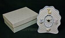 Carters Baby Boys Blue And White Resin Table Top Or Dresser Nursery Clock