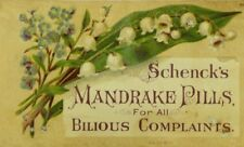 Schenck's Mandrake Pills Cure-All Lily-Of-the-Valley & Forget-Me-Nots P99