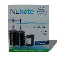 Nukote WM196 Ink Jet Refill Kit - Black - For HP, Lexmark and Dell Printers