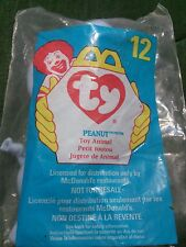 #12 Peanut The Elephant 1998 McDonald's Ty Teenie Beanie Babies New In Bag