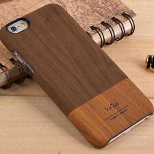 "Apple iPhone 6 6S 4.7"" Handy Tasche kajsa Hard Case Wood Holz Skin Cover Braun"