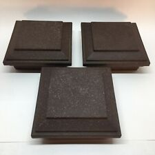 "Trex  Post Cap Wood Brown Flat Cap 4-1/2"" ID X 6"" OD ***Lot Of (3)"