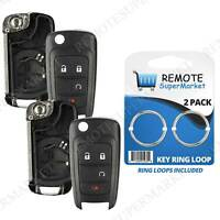 2 Replacement for Chevrolet 10-16 Equinox 15-16 Impala Remote Shell Case Pad Fob