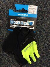 Shimano Escape Short Finger Bike Glove, Yellow, Men, Large