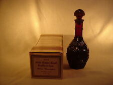 Avon Cape Cod 1876 Ruby Red Glass ~ Wine Decanter ~ NEW Original Box