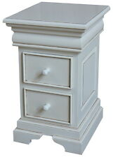 French Louis Philippe 2-3 drawer Bedside Table / Cabinet Antique White BS040P