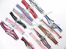 US SELLER - 10 pcs wholesale infinity bracelet friendship charm bracelet jewelry