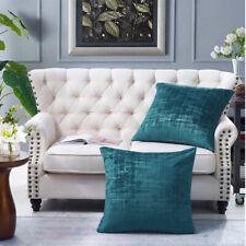 Textured Velvet 2 Piece Euro Pillow Shell Set - Teal Brand New IN BOX - Walmart