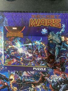Marvel Avengers Secret Wars Puzzle 1000 Piece Spider-Man Captain America HTF