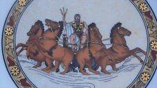 "Greek Roman God Zeus Jupiter Greece Wall Ceramic Pottery Plate Gold Keramikos 8"""