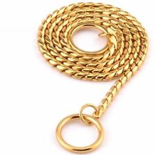 Copper Metal Material Dog Neck Strap Snake Chain Style Two Rings Easy Separation