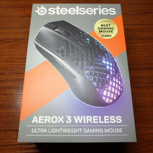 SteelSeries Aerox 3 Wireless Optical Mouse Gaming Mouse - Black