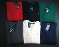 POLO RALPH LAUREN Men's Cable-Knit Wool-Cashmere Pullover Sweater NWT $125