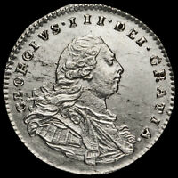 1800 George III Early Milled Silver Maundy Penny, A/UNC