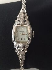 *VINTAGE* Hamilton Ladies 14K White Gold 1/2 Ct. Diamond Watch w/ Appraisal